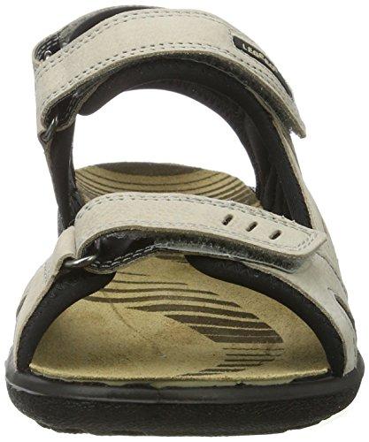 Legero Gorla Damen Offene Sandalen mit Keilabsatz Weiß (Cristal 14)