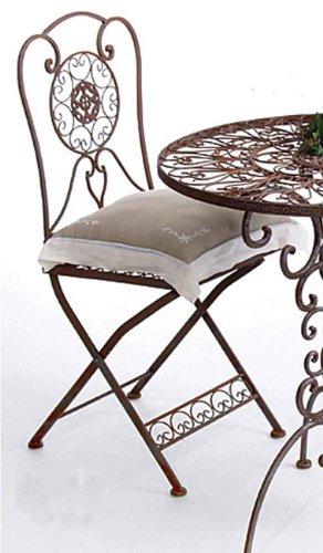 eisenstuhl garten Nostalgischer Stuhl Tecla Metall Gartenstuhl H 92 cm