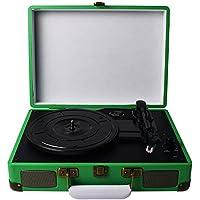 DIGITNOW! tocadiscos estéreo plato giradiscos plato vinilo de 3 velocidades con altavoces incorporados (estéreo, 33/45/78 rpm)