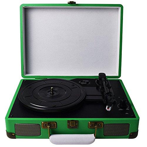 Digitnow-Belt-Drive-3-velocit-stereo-portatile-Giradischi-con-altoparlanti-integrati-supporta-uscita-RCA-35mm-AUX-IN-Jack-per-cuffie-MP3-telefoni-cellulari-della-riproduzione-musicale
