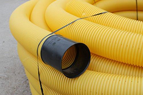 Drainagerohr DN 50 gelocht Drainage (10m) Doubleyou Geovlies & Baustoffe®