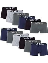 MioRalini SPARPACK 12 weiche und Elastische Boxershort in vielen Farben grosse Auswahl - Grösse 4-S bis 10-4XL - Retroshorts Retropants
