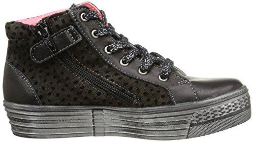 Catimini Colobe, Mädchen Hohe Sneakers Schwarz (ctv Noir/fushia Dpf/delsa)