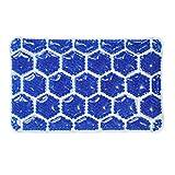 QJIAXING Badewannen-Kissen PVC-Bienenwaben-Kristallschlamm-Wasserdichtes Schwamm-Bad-Kissen-Kissen,Blue,26.5*16.5Cm