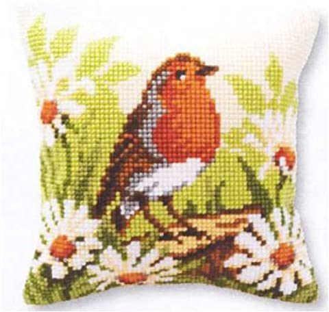 Vervaco Robin Cross Stitch Cushion Front Kit