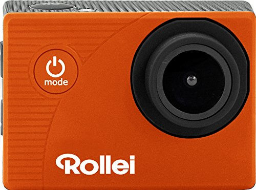 Rollei Actioncam 372 - Action-Camcorder mit Full HD Video Auflösung 1080/30 fps, bis 30 m wasserfest - Orange