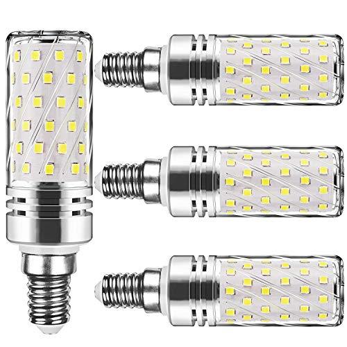 E14 LED kaltweiss Tageslichtweiß 15W Mais Glühbirnen E14 Nicht dimmbar 6000K Kaltweiß 1500Lm Kleine Edison-Schraube Kerze Leuchtmittel Led Maiskolben Entspricht 120W Glühbirnen(4er-Pack)