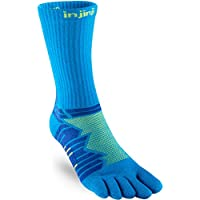 Injinji Socks Rendimiento Ultra Run Crew Calcetines para Correr Lima - Lima, Medium