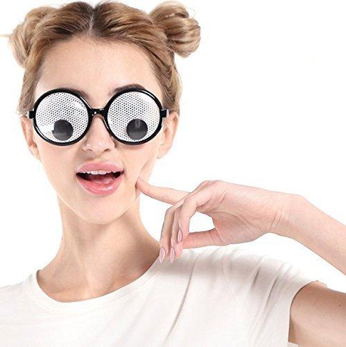 UChic 1 STÜCKE Lustige Googly Augen Brille Schütteln Augen Party Gläser und Spielzeug für Party Cosplay Kostüm und Halloween Party ()