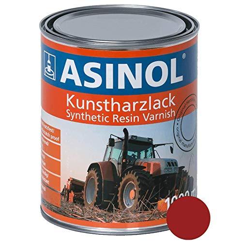 ASINOL MASSEY FERGUSON ROT 1 000 ml Kunstharzlack Farbe Lack 1l Liter Dose