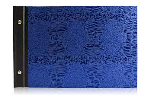 Fotoalbum Eidechse, A4 Quer, Fotobuch, photo album, selbst einkleben - Blau