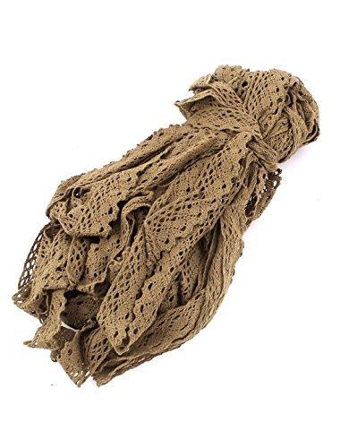 Dealmux artisanal DIY Craft brodée Net Bordure en dentelle ruban 30 m Café Couleur