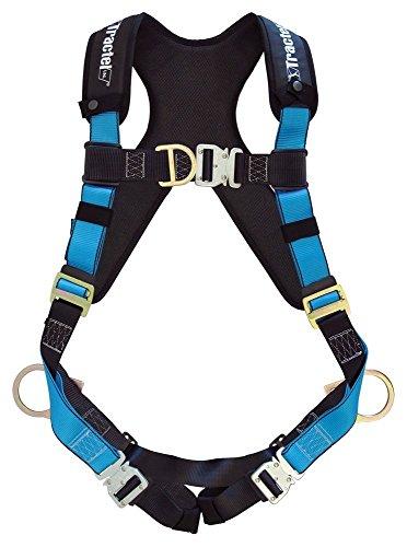 tractel at7132s/XT Geschirr mit eine Größe passend für die meisten Automatische Schnallen, Tracx Pad, side-positioning, Sternal, feste Brustgurt, Rücken D-Ring und Frontal Befestigung, klein, blau/schwarz (D-ring Feste)