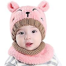 WeiMay Bonnet + écharpe Creative mignon bébé écharpe chapeaux hiver  vêtements enfants tricot bonnet écharpe coupe 4c5c722e74c