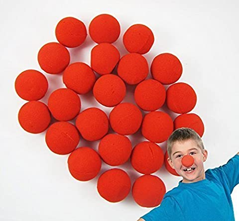 LefRight(TM) 60pcs Foam Red Clown Nose Circus Wedding Party Halloween Carnival Costume Activity by LefRight