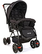 LuvLap Starshine Baby Stroller -Black ( For Babies upto 25 kgs)