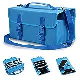 Starvast Aufbewahrungstasche für 120 Marker, mit Tragegriff für Primascolor Marker und Copic Marker, Permanent Paint Marker (blau)