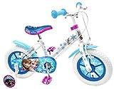 Stamp Rn240018nba Kinder-Fahrrad, 30,5cm / 12Zoll, Design: Die Eiskönigin, Stahl-Rahmen, Sattel bedruckt, bunte Nylonfelgen, Luftreifen, Stützräder, Schutzbleche, Vorder- und Hinterradbremse