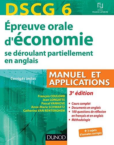 DSCG 6 - Épreuve orale d'économie ...