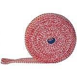 Rete per prosciutto salmone, 50 m, rosso/bianco, 14 rete per prosciutto, rete per arrosti
