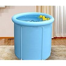 NabothT Tubo engrosado adulto bañera hinchable bañera plegable de plástico de 80*80