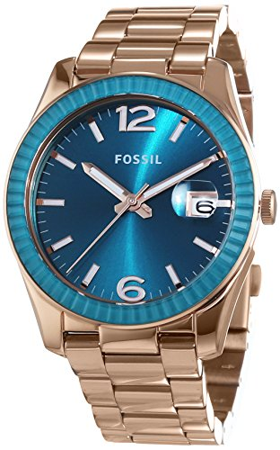 Fossil Damen-Armbanduhr Analog Quarz Edelstahl beschichtet ES3730