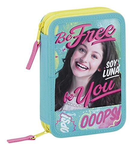 Safta Estuche Soy Luna «Be Free» Oficial 34 Útiles Incluidos 135x45x205mm