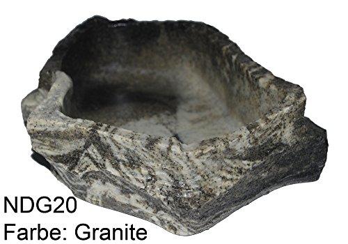 Dragon - Wasserschale - Futternapf - Felsschale Large GRANITE ROCK 1000 ml, BTH 23x18x6,5 cm -