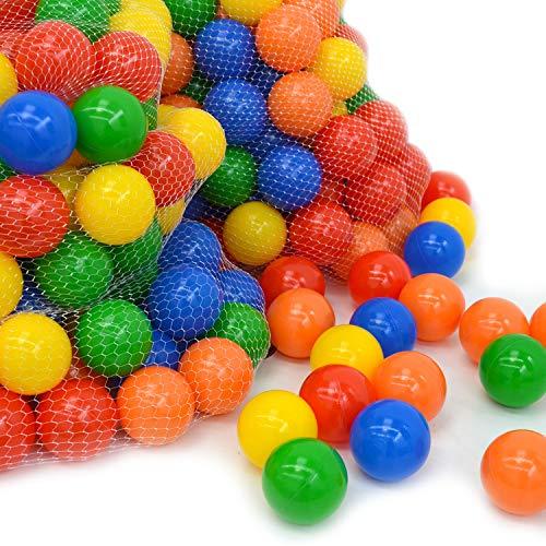 LittleTom 1000 Gewerbe Bällebad Bälle Ø 7cm Kinder Spielbälle Plastikbälle Bunt (Bälle 1000 Bällebad)