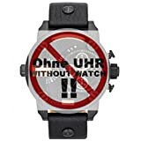 Diesel Uhrband Wechselarmband LB-DZ7291 Original Ersatzband DZ 7291 Uhrenarmband Leder 24 mm Schwarz