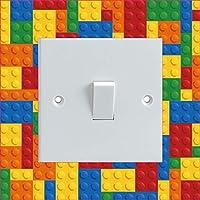 Decalarama BUILDING BLOCKS PATTERN Electrical Light Switch Surround Printed Vinyl Sticker