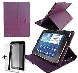 Viola PU custodia e supporto per Clementoni Clem Pad 17,8cm pollici Tablet + pellicola proteggi schermo e penna stilo