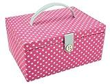 Button It Boîte à couture rose vif