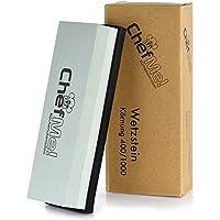 ChefMe! Piedra de Afilar (Grano 400/1000) | Piedra para Amolar Cuchillos con Soporte de Silicona Antideslizante e Instrucciones