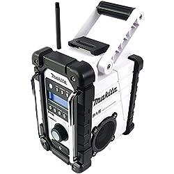 Makita DMR104W Radio stéréo de chantier avec DAB et FM, blanche