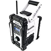 Makita DMR 104 W Akku Baustellen Radio Weiß - Solo, ohne Akkus und Ladegerät