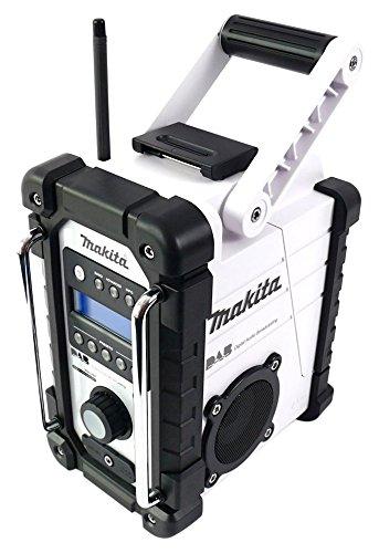 Preisvergleich Produktbild Makita DMR 104 W Akku Baustellen Radio Weiß - Solo, ohne Akkus und Ladegerät
