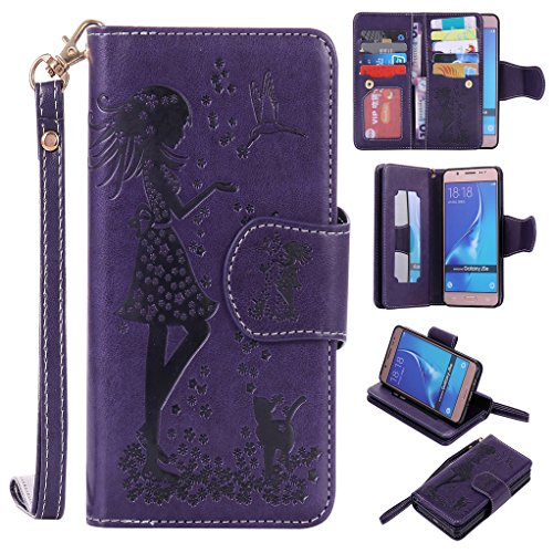 bestsky-for-samsung-galaxy-j5-2016-j510-wallet-case-embossed-pu-leather-cover-girl-butterfly-floral-