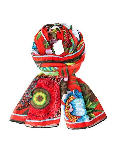 Desigual Damen Schal, mit Print