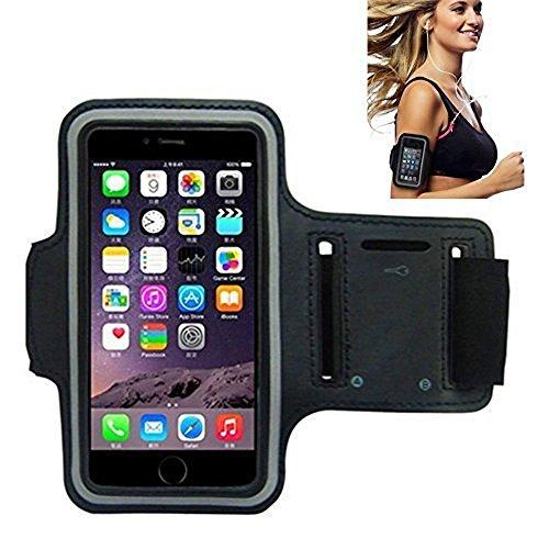 Sportarmband, Morris Wasser resistand Schlüssel Halter Karte Halter Sporthülle für Smartphones iPhone 7, 7Plus, 6, 6Plus, 6S, 5, 5S, 4, 4S, Galaxy S3, S4+ Schlüsselhalter, wasserabweisend, schwarz
