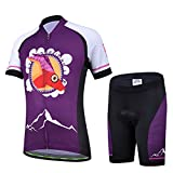 Free Fisher Kids Cycling Jersey Set/Short Sleeve Jersey/ Short