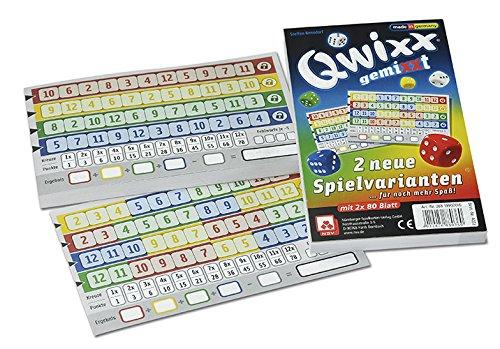NSV-4033-QWIXX-GEMIXXT-neue-Spielvarianten-2-er-Set-Blcke-Wrfelspiel NSV – 4033 – QWIXX – gemixxt – Zusatzblöcke 2er Set – Würfelspiel -
