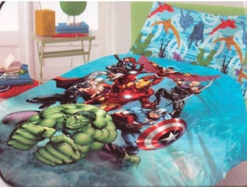 Lenzuola copriletto avengers iron man hulk capitan america thor novia italia puro cotone 100% sotto sopra federa