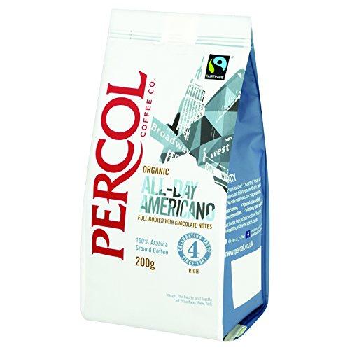 Percol Americano De Comercio Justo Y Orgánico 200g Café Molido (Paquete de 2)