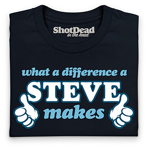 What A Difference A Steve Makes T-shirt, Uomo Nero
