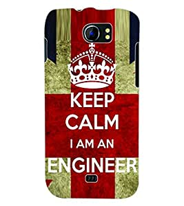 ColourCraft Engineer Quote Back Case Cover for MICROMAX CANVAS 2 A110
