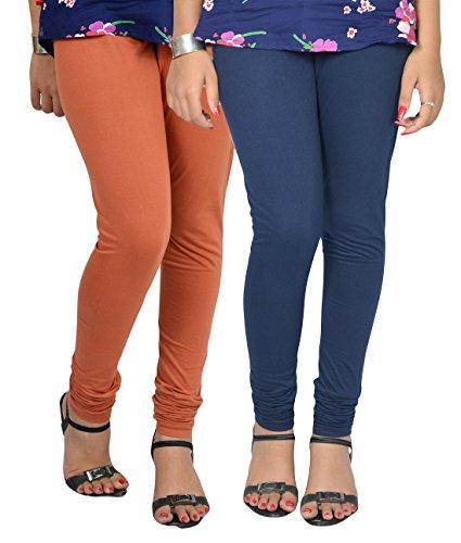 Vimal Women\'s Cotton Blended Churidhar Leggings Pack Of 2
