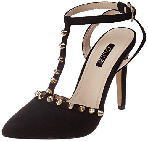 Quiz tBar Studs Sandali con Cinturino alla Caviglia Donna Nero Black