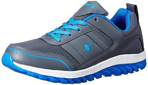 Sparx Men's Dark Grey and Blue Running Shoes - 9 UK/India (43.33 EU) (SM-502)