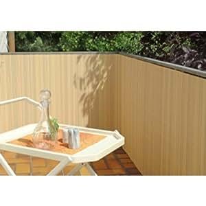 balkonsichtschutz bambus optik 90x300 kunststoff sichtschutzmatte balkonverkleidung. Black Bedroom Furniture Sets. Home Design Ideas
